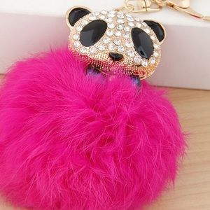 New faux full ball keychain crystals big size